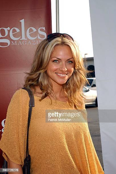 Stacy Sanchez Attends Concern Foundations 31st Annual Block Party At A Western Back Lot