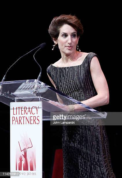Stacy Schiff attends Literacy Partners' 27th annual Evening of Readings gala at David H Koch Theater Lincoln Center on May 16 2011 in New York City