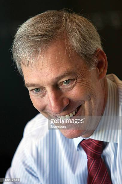 Stacy Smith senior vice president of finance and chief financial officer of Intel Corp smiles during an interview in San Francisco California US on...