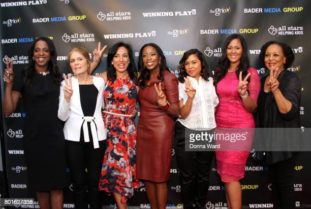 Stacy Tisdale Gloria Steinem Michelle Miller Grace Vandecruze Angela Yee Rianka Dorsainvil and Carol Jenkins attend the Winning Play$ Black Women...