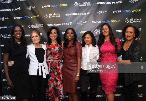 Stacy Tisdale Gloria Steinem Michelle Miller Grace Vandecruze Angela Yee Rianka Dorsainvil and Carol Jenkins attend the Winning Play$ Black Women...