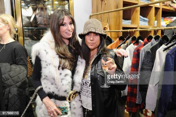 Stacy Weisser and Ivy Supersonic attend Vintage For The Future A Norma Kamali Retrospective by What Goes Around Comes Around on February 13 2018 in...