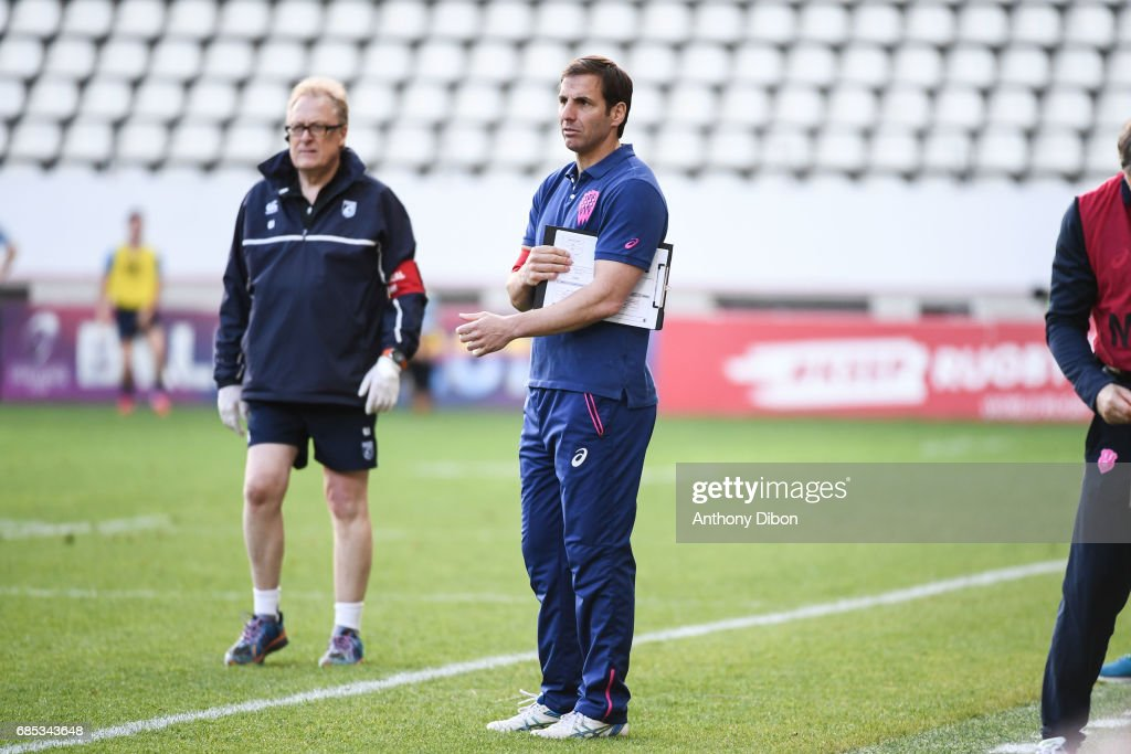 Stade Francais coach Gonzalo Quesada during the Champions Cup Play-offs match between Stade Francais Paris and Cardiff Blues at Stade Jean Bouin on May 19, 2017 in Paris, France.