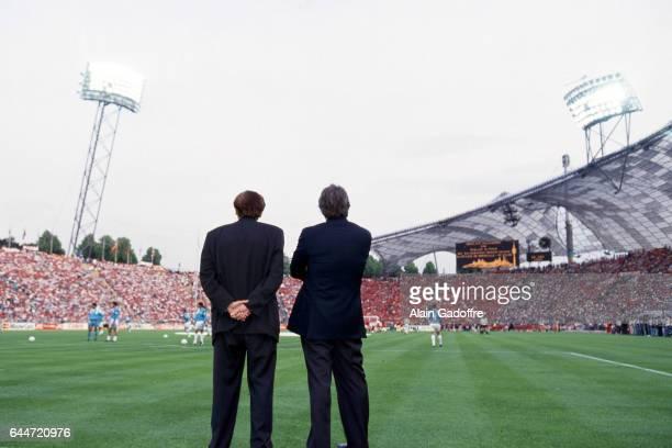Stade Olympique de Munich Raymond Goethals / Bernard TAPIE Marseille / Milan AC Finale de la Ligue des Champions 1993 Photo Alain Gadoffre / Icon...