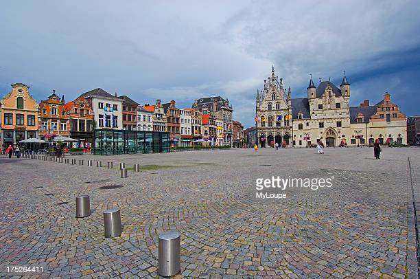 Stadhuis and Palace of the Great Council in the Grote Markt , Mechelen , Flanders, Belgium