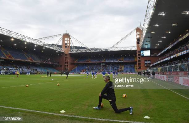 Stadio Luigi Ferraris field before the Serie A match between UC Sampdoria and Torino FC at Stadio Luigi Ferraris on November 4 2018 in Genoa Italy