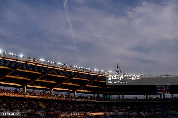 Stadio Olimpico Grande Torino is pictured during the Serie A football match between Torino FC and Cagliari Calcio The match ended in a 11 tie