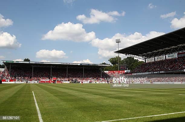 Stadion der Freundschaft Übersicht Nordwand Gegengerade volle Ränge beim Ostderby , Sport, Fußball Fussball dritte 3.Bundesliga, Saison 2014 FC...