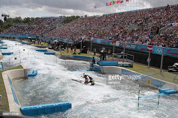 Stadion Lee Valley White Water Centre Kanu Slalom Wildwasser White water Olympische Sommerspiele in London 2012 Olympia olympic summer games london...