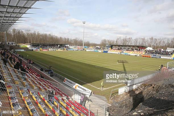 Stadium during the Regionalliga Suedwest match between SV Elversberg and 1. FC Saarbruecken on February 28, 2015 in Neunkirchen, Germany.