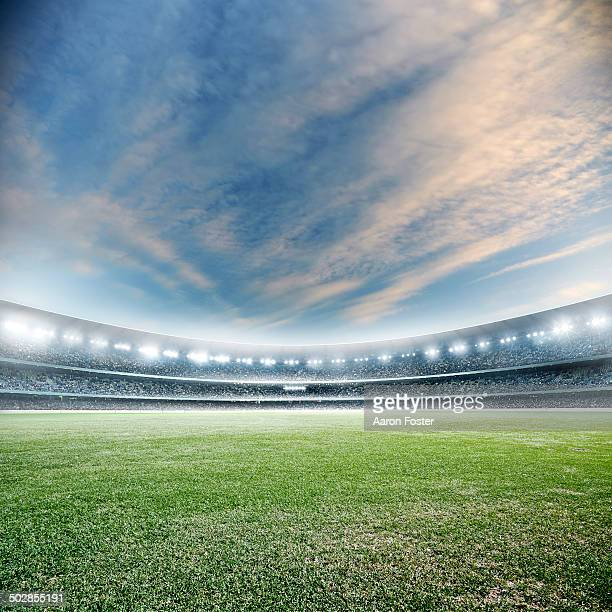 stadium dusk - stadium stock pictures, royalty-free photos & images