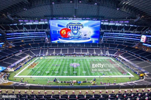 Stadium field prior to the Goodyear Cotton Bowl Classic football game between the USC Trojans and the Ohio State Buckeyes on December 29 2017 at ATT...