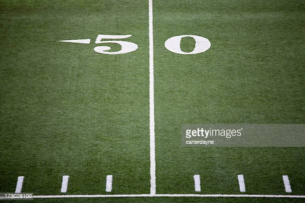 Stadium football field 50 yard line