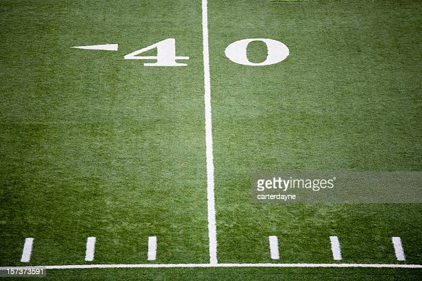 stadium football field - forty yard line stock pictures, royalty-free photos & images