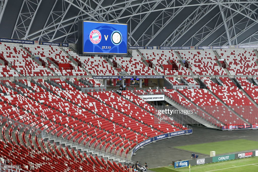 Stadium general view before the International Champions Cup match between FC Bayern and FC Internazionale at National Stadium on July 27, 2017 in Singapore.