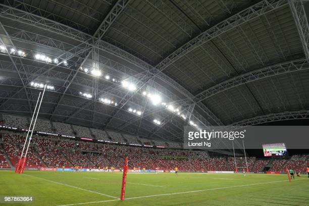 Stadium general view during the Super Rugby match between Sunwolves and Bulls at the Singapore National Stadium on June 30 2018 in Singapore