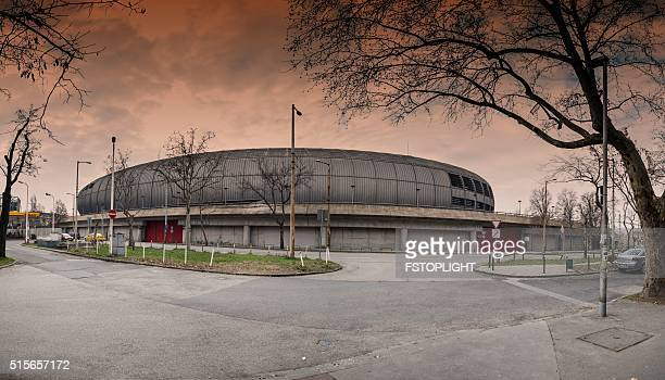 stadium in budapest city - fstoplight stock photos and pictures