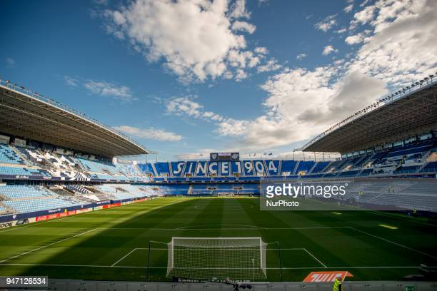 Stadium La Rosaleda before the match between Malaga CF against Real Madrid week 32 of La Liga 2017/18 in Rosaleda stadium Malaga SPAIN 15th April of...