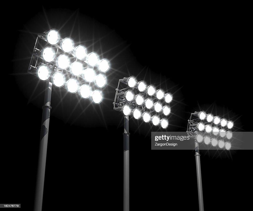 Stadium Of Lights: Stadium Lights Stock Photo