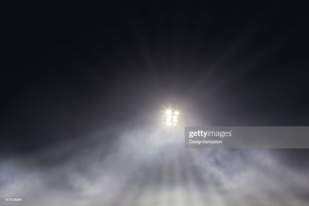 Stadium Lights through mist : Stock Photo