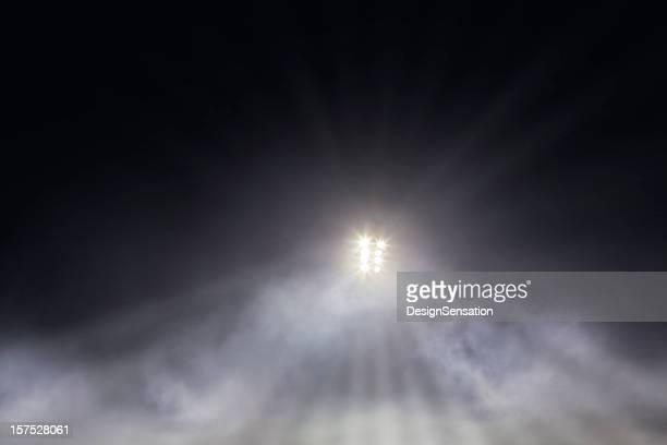 stadium lights through mist - stadium lights stock pictures, royalty-free photos & images