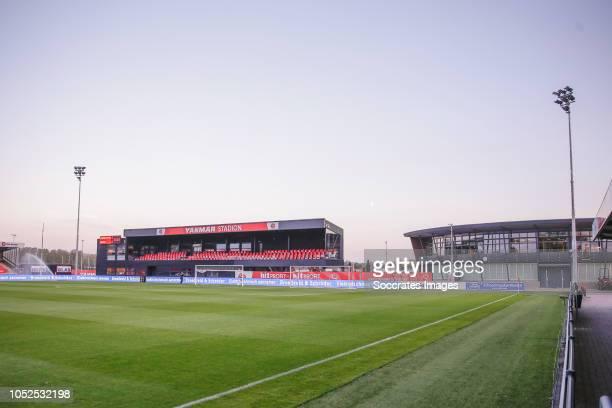 Stadium of Almere City during the Dutch Keuken Kampioen Divisie match between SC Cambuur v Helmond Sport at the Cambuur Stadium on October 19, 2018...