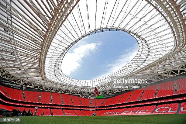 stadium of Athletic Bilbao during the La Liga Santander match between Athletic de Bilbao v Real Betis Sevilla at the Estadio San Mames on May 5 2018...