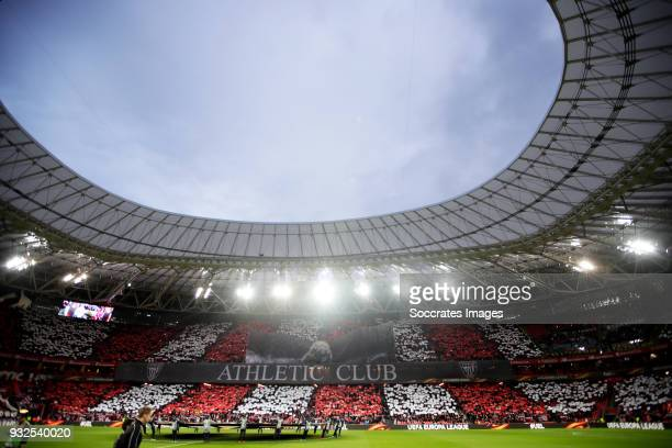 stadium of Athletic de Bilbao during the UEFA Europa League match between Athletic de Bilbao v Olympique Marseille at the Estadio San Mames on March...