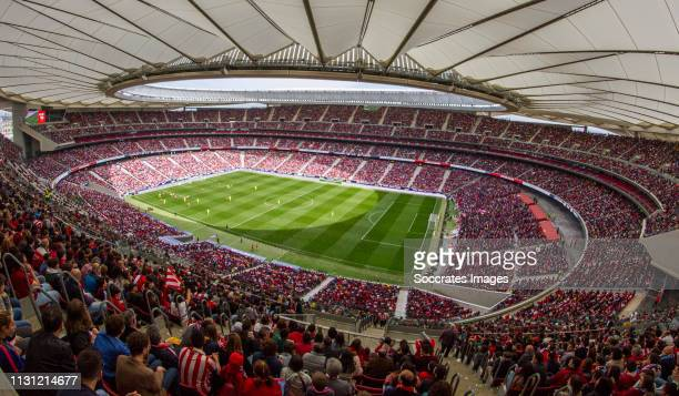 stadium of Atletico Madrid during the match between Atletico Madrid Women v FC Barcelona Woman at the Estadio Wanda Metropolitano on March 17 2019 in...