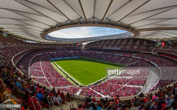 Stadium of Atletico Madrid during the match between Atletico Madrid Women v FC Barcelona Woman at the Estadio Wanda Metropolitano on March 17, 2019...