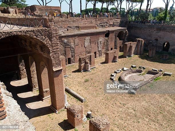 stadium of domitian. palatine. rome. italy. europe. - marco cristofori fotografías e imágenes de stock