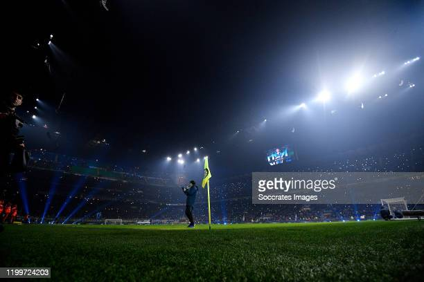 Stadium of Inter Milan AC Milan during the Italian Serie A match between Internazionale v AC Milan at the San Siro on February 9 2020 in Milan Italy