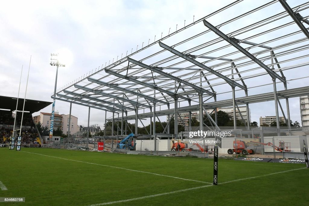 Stadium of La Rochelle during the pre-season match between Stade Rochelais and SU Agen on August 17, 2017 in La Rochelle, France.