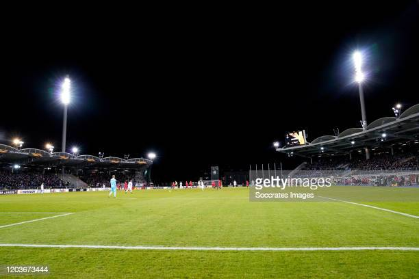 Stadium of LASK Linz during the UEFA Europa League match between Lask v AZ Alkmaar at the Linzer Stadion on February 27, 2020 in Linz Austria