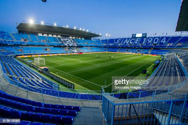 stadium of Malaga during the La Liga Santander match between Malaga v Valencia at the Estadio La Rosaleda on February 17 2018 in Malaga Spain