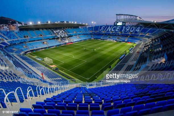 stadium of Malaga during the La Liga Santander match between Malaga v Valencia at the Estadio La Rosaleda on February 17 2018 in Malaga Spain