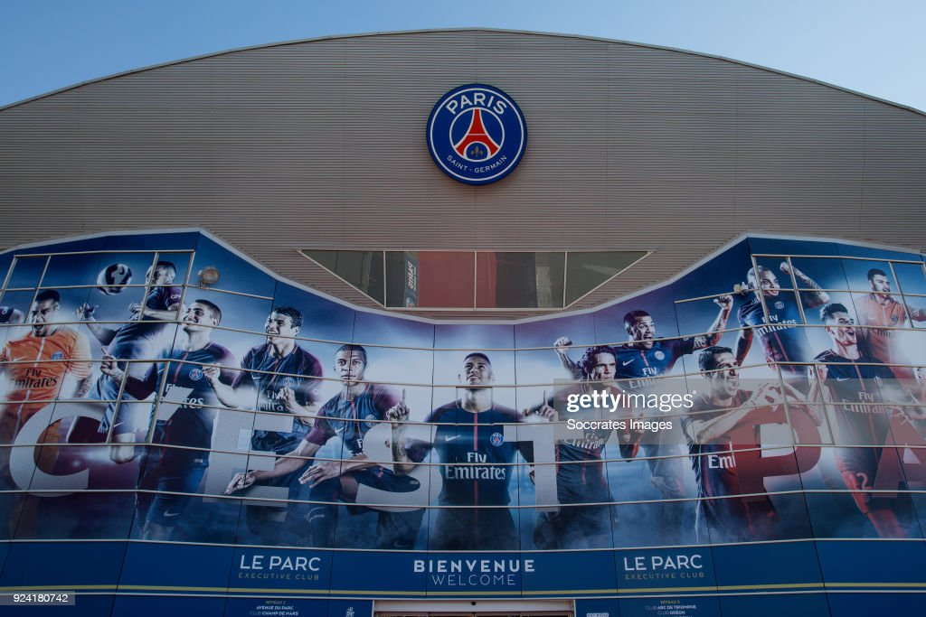 stadium of Paris Saint Germain during the French League 1 match between Paris Saint Germain v Olympique Marseille at the Parc des Princes on February 25, 2018 in Paris France