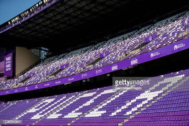 Stadium of Real Valladolid during the La Liga Santander match between Real Valladolid v FC Barcelona at the Estadio Municipal José Zorrilla on July...