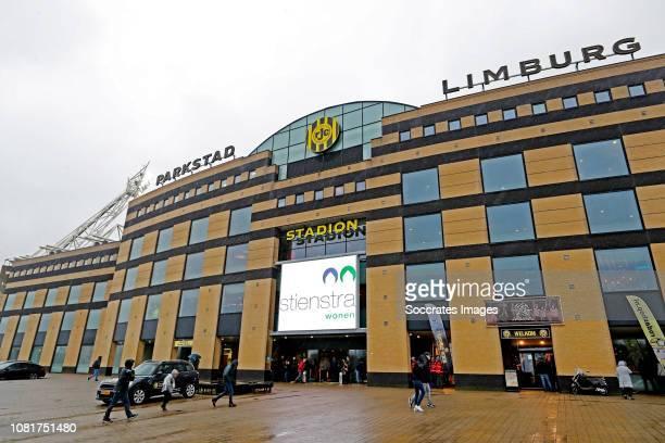 Stadium of Roda JC during the Dutch Keuken Kampioen Divisie match between Roda JC v Go Ahead Eagles at the Parkstad Limburg Stadium on January 13,...