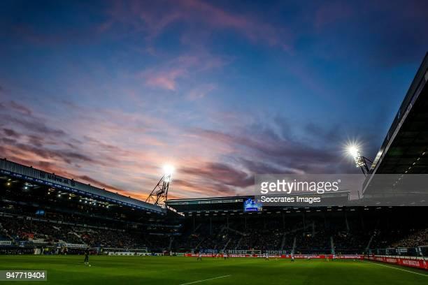 stadium of SC Heerenveen during the Dutch Eredivisie match between SC Heerenveen v ADO Den Haag at the Abe Lenstra Stadium on April 17 2018 in...