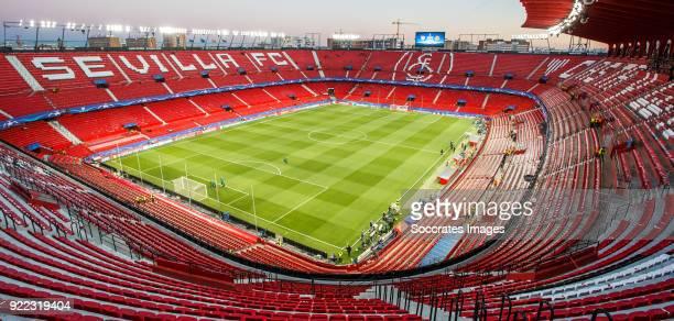 stadium of Sevilla FC during the UEFA Champions League match between Sevilla v Manchester United at the Estadio Ramon Sanchez Pizjuan on February 21...