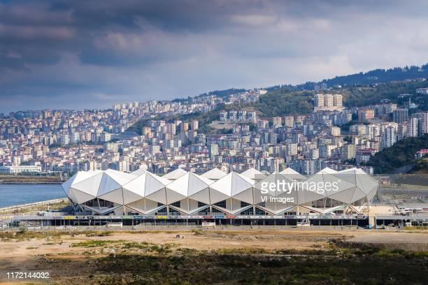 stadium of Trabzonspor during the Turkish Spor Toto Super Lig match between Trabzonspor AS and Besiktas AS at the Senol Gunes stadium on September 29...