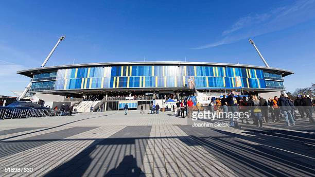 Stadium Overview and Fans before the Second Bundesliga match between Eintracht Braunschweig and SC Paderborn at Eintracht Stadion on April 1 2016 in...