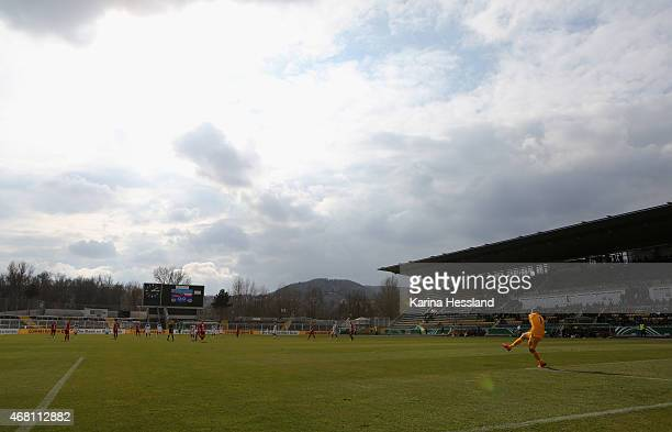 Stadium overview during the International Friendly match between U20 Germany and U20 Poland at ErnstAbbeSportfeld on March 27 2015 in Jena Germany
