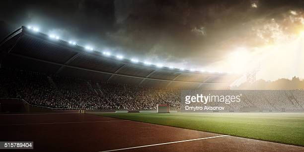 stadium - soccer scoreboard stock photos and pictures
