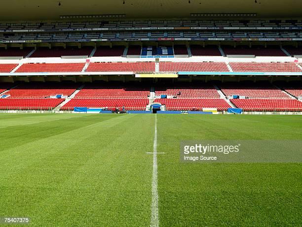 stadium - empty bleachers stock photos and pictures
