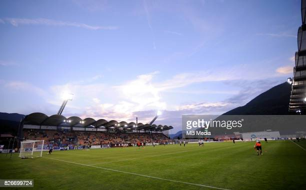 stadium reacts during the UEFA Europa League Qualifier between MFK Ruzomberok and Everton on August 3 2017 in Ruzomberok Slovakia