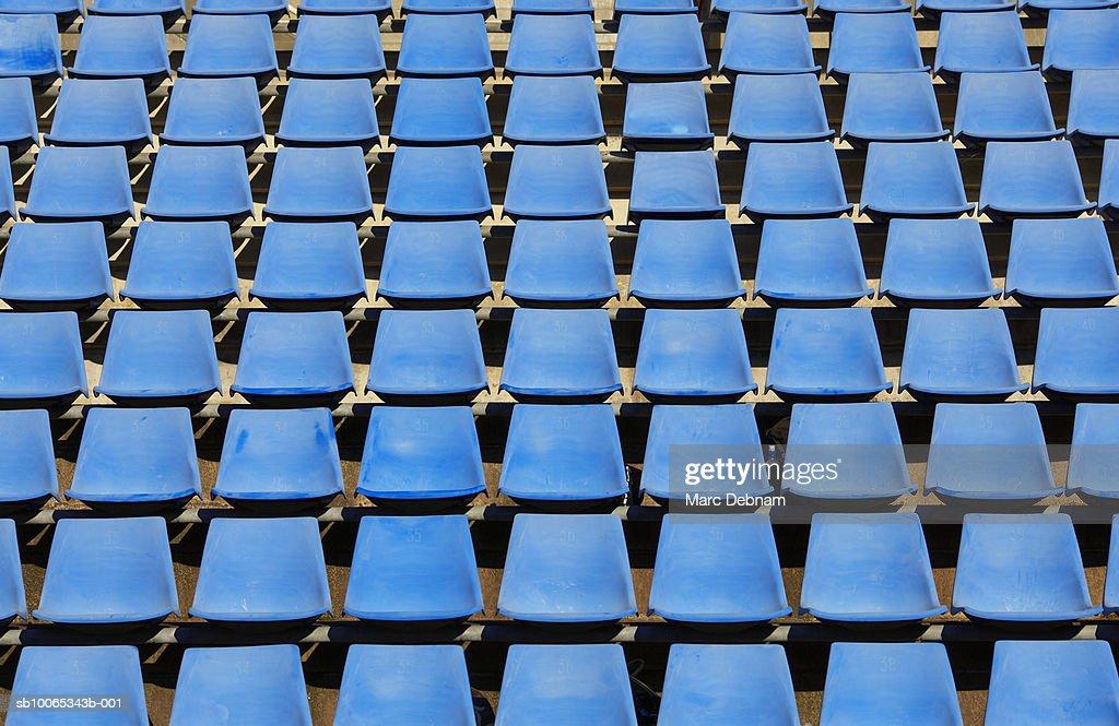 Stadium seating, full frame : Foto stock