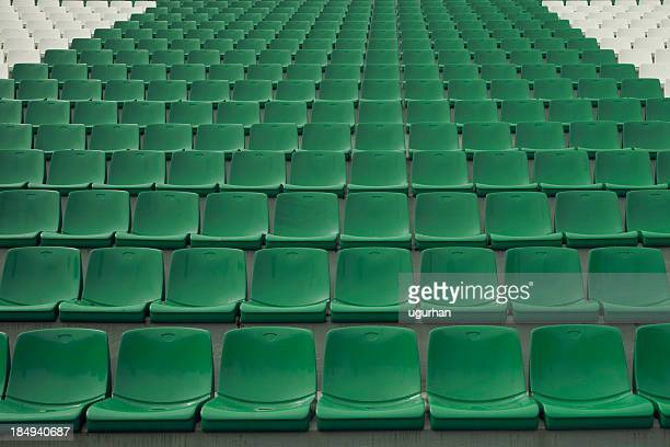 stadium seating - empty bleachers stockfoto's en -beelden