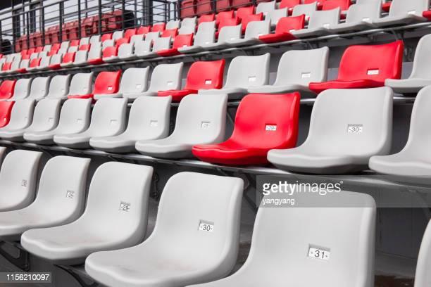 stadium seats bleachers sporting entertainment venue - bleachers stock pictures, royalty-free photos & images